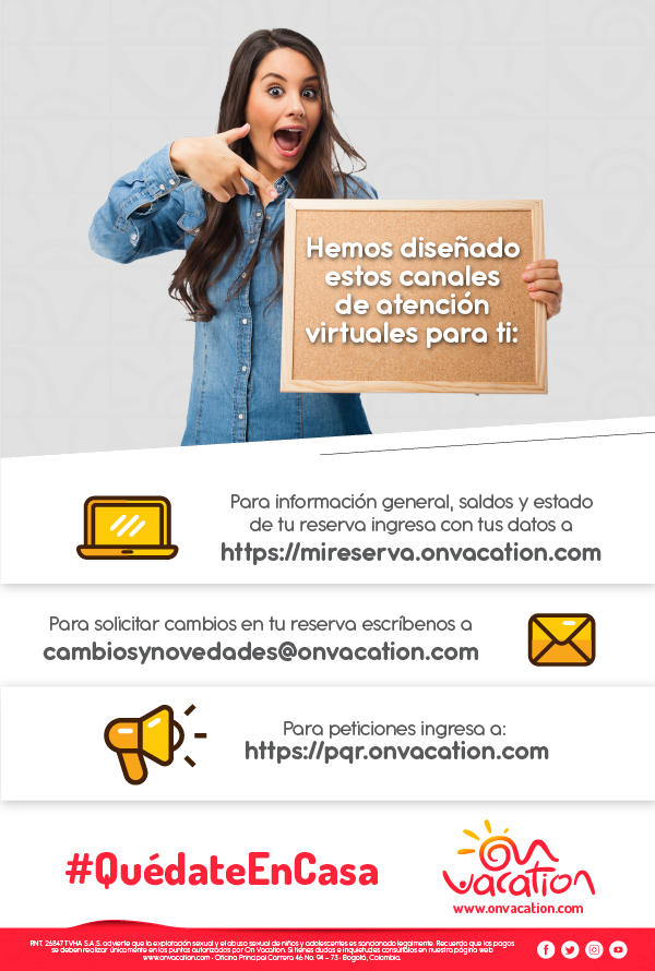 COMUNICADO - ON VACATION - CANALES DIGITALES
