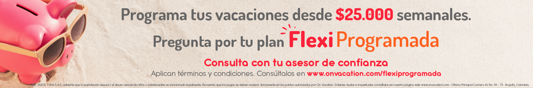 Promoción on vacation flexi